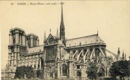 CPA -  PARIS,   Notre Dame, (côté Sud)  - 2 Scans - Notre Dame De Paris