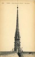 CPA -  PARIS,   Notre Dame, La Flèche  - 2 Scans - Notre Dame De Paris
