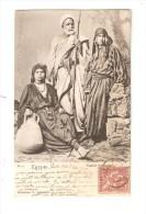 CPA :Egypte : Famille Bédouine : 1 Homme Et 2 Femmes En Costume - Egypte