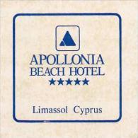 CYPRUS LIMASSOL APOLLONIA BEACH HOTEL VINTAGE LUGGAGE LABEL