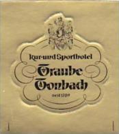 GERMANY TONBACH SPORTHOTEL TRAUBE VINTAGE LUGGAGE LABEL