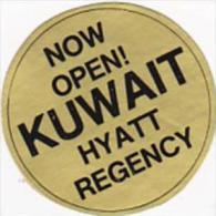 KUWAIT HYATT REGENCY HOTEL VINTAGE LUGGAGE LABEL