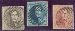 Médaillon 10, 20 Et 40 Centimes, (le 40 Centimes Légèrement Touché), Obl. P.27 CHIMAY Centrale Et Droite. Superbes Frapp - 1858-1862 Medallions (9/12)