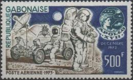 GABON Poste Aérienne 144 ** MNH Apollo 17 NASA Lune Moon Conquête Espace Space Kosmos Jeep Lunaire [CV 9 €] - Gabon