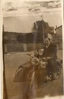 PHOTO 61 - Photo Originale ( 9 X 14 ) - Moto - Motocyclette / Side - Car - Motocycliste - Motos