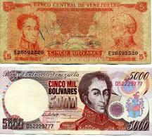 2 Billets Du VENEZUELA - Venezuela