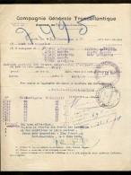CONSTAT De La COMPAGNIE GÉNÉRALE TRANSATLANTIQUE Pour Vols De MADERE QUINQUINA Sur Le Bateau SEVRE En 1928 - Transports