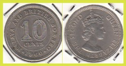 Malesia & Borneo Inglese 10 Cents 1960 KM#2 - Used - Malesia