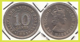 Malesia & Borneo Inglese 10 Cents 1961 KM#2 - Used - Malaysie