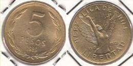 Cile 5 Pesos 1989 KM#217.2 - Used - Cile