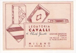 """Preventivo """"Legatoria CAVALLI - Milano"""" Per Pio Bondioli - Italia"""