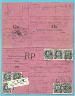 211 (X8) Op Ontvangkaart (Carte-récépissé ) Met Stempel MANAGE, Met Stempel RETOUR-TERUG (VK) - 1921-1925 Petit Montenez