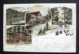 BREMSDORF Eisenhüttenstadt - Litho - Z. B. Mühle Angeln Villa 1900 - NUR 3 TAGE! - Deutschland