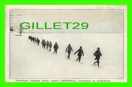 SPORTS D'HIVER - SNOWSHOES TRAMPING ACROSS COUNTRY, MONTREAL - RANDONNÉE DE RAQUETTEURS - TRAVEL IN 1925 - - Sports D'hiver