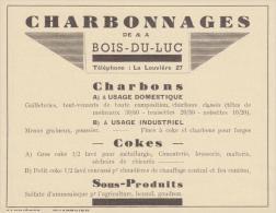 Bois-du-Luc - Charbonnages Du - Publicités