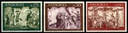 ANDORRE FRANCAIS  191 à 193  1968  FRESQUES DU XVI ème SIECLE DE LA MAISON DES VALLEES - Ongebruikt