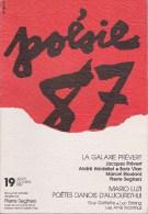 POESIE DESSIN PREVERT VIAN ESTANG GOFFETTE LUZI DANEMARK - Poésie