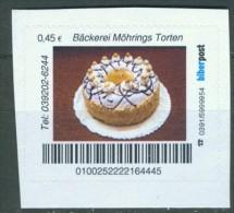 Biber Post Bäckerei Möhrings Torten (Motiv 2) 0,45 € B014 - [7] Repubblica Federale