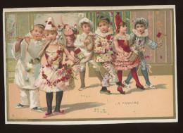 Chromo Lith. J. Minot, Thème Enfants, Danse, Musique, La Fanfare - Chromos