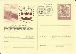 AUSTRIA ENTERO POSTAL JUEGOS OLIMPICOS INVIERNO INNSBRUCK 1976 MAT AXAMS - Invierno 1976: Innsbruck