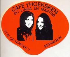 Sticker Zelfklever Café 't Hoeksken Bij Linda En Carine - Pepingen - Stickers