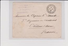 OCCUPATION DU MAROC - 1908 - BUREAU TERRITORIAL De CASABLANCA - ENVELOPPE De L'ETAT MAJOR - Marcophilie (Lettres)