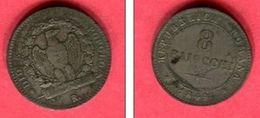 § REPUBLIQUE ROMAINE 8 BAIOCCHI 1849 TB+ 68 - Monedas Regionales