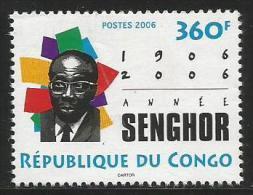 Congo 2006 Writer Former President Of Senegal Leopold Senghor Mint - Congo - Brazzaville