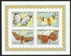 Congo 1999 Butterflies Unperforated Mint MS - Papillons