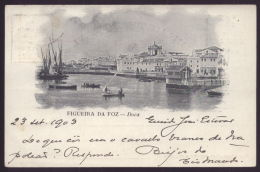 1900 FIGUEIRA DA FOZ  Postal Tipo GRUSS Recordação. Doca. EDIÇAO COsta & Cª. Old Postcard (Coimbra) PORTUGAL - Coimbra
