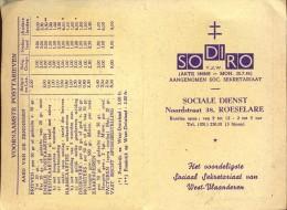 Kalender 1963 - Pub. Reclame SoDiRo - Roeselare - Sociale Dienst - Petit Format : 1961-70