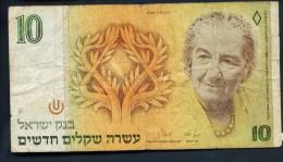 "10 NEW Sheqalim  "" ISRAEL ""   VF Pic 53  BC0 - Israel"