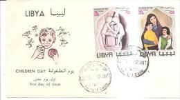 75884) FDC-della Libia- Children Day -21-3-1968 - Libia