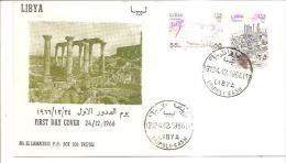 75886) FDC-della Libia- Monumenti -24-12-1966 - Libia
