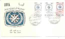 75890) FDC-della Libia- International Tourist Year-1-5-1967 - Libia