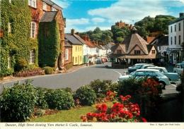 High Street & Yarn Market, Dunster, Somerset, England Postcard John Hinde Unposted #2 - Autres