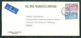 Lettre Des Iles Bermudes ( Bermuda ) Adressée à L'Uit En 1962 - Au6003 - Bermudes