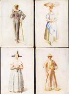 7 Cartes Costumes Allemands - Costumi