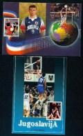 Yugoslavia 2001. Maximum Cards - ´Basketball And Volleyball´ -- See Scan - Cartes-maximum