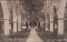 SHALDON ST PETERS CHURCH INTERIOR DEVON UNUSED POSTCARD NR TEIGNMOUTH BISHOPSTEIGHTON - Sonstige
