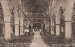 SHALDON ST PETERS CHURCH INTERIOR DEVON UNUSED POSTCARD NR TEIGNMOUTH BISHOPSTEIGHTON - Angleterre