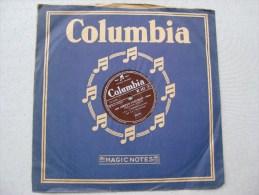 Disque Ancien 78 Tours Gramophone Columbia Les Compagnons De La Chanson - 78 G - Dischi Per Fonografi
