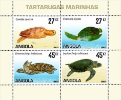 angM1794 Angola 2007  Turtle s/s