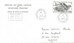 TAAF 1993 Martin De Vivies St Paul Amsterdam Skua Gull Bird Cover - Brieven En Documenten