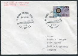 1971 Luxembourg Switzerland Luxair First Flight Cover - Geneve - Briefe U. Dokumente