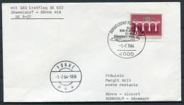 1984 Dusseldorf - Ronne Denmark SAS First Flight Cover - [7] Federal Republic