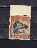 "Ruanda-Urundi (1943)  - ""Z�bre""  Neuf**"
