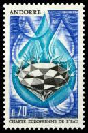 ANDORRE FRANCAIS  197 1969  CHARTE EUROPEENNE DE L'EAU - Ongebruikt
