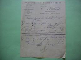 PONT DE VAUX AIN HOTEL DU COMMERCE VVE BENOIT PLACES JOUBERT ET BERTIN COURRIER DU 12 OCTOBRE 1926 - Sports & Tourism