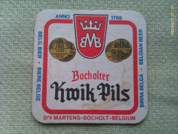 Posavasos Cerveza Bocholter Kwik Pils. Bocholt. Bélgica - Sous-bocks